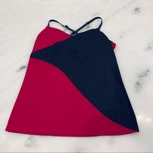 Zobha Athletic Tank Grey/Raspberry Size 10